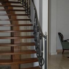 Balustrady schodowe kute
