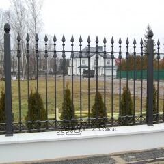 ogrodzenie kute Warszawa przęsła