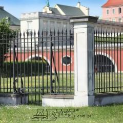 ogrodzenia kute zamek królewski Warszawa