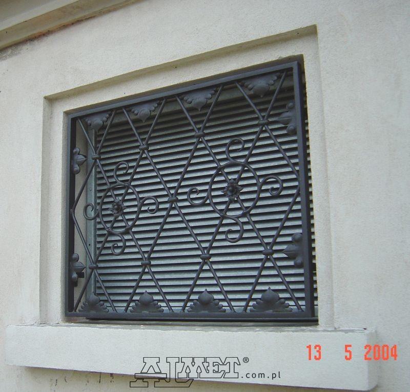 Nowość Kraty kute, okienne, do okien, drzwi, metalowe, drzwiowe QI05
